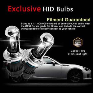 2PCS 55W HID Xenon Conversion Kit With Slim Ballast - H4-3 9003-6000K - 2 Bulbs & 2 Ballasts