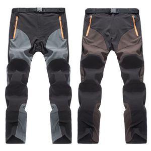 Pantalon élastique à sec extérieur Randonnée pantalons hommes Summer montagne Escalade Pantalons de pêche Sport Pantalon coupe-vent D25