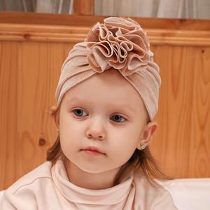 Neonato di inverno cappelli del bambino 14 design Solid Gold Velvet Fiore, tenere al caldo Cappelli scherza la protezione infantile delle ragazze dei ragazzi delle protezioni del bambino Turbante Cappello 07