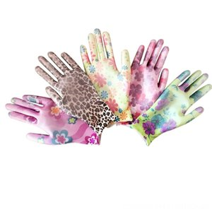 New Household Other Housekeeping & Organization Housekeeping & Organization Ladies gardening Nylon suit color work gloves Tu Palm Dipped Glo