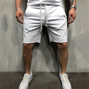 Running Mens Shorts Fitness Loose Solid Color Sports Male Shorts Casual Breathable Training Homme Drawstring Trousers