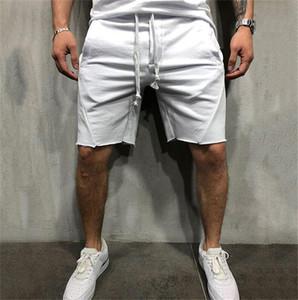 Courir Hommes Short Fitness en vrac solide Couleur sport Homme Shorts Respirant Homme formation cordonnet Pantalons