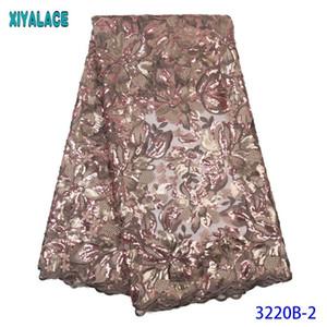 Лента нигерийские кружева французские последовательности ткани сетчатые тюль шнуровки африканские платья стили для женщин KS3220B