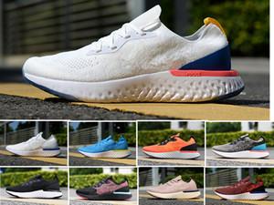 2020 En İyi Fly Koleji Donanma Üçlü Siyah Koyu Gri Örme erkekler Sport Sneakers Koşu 5,5-11 Ayakkabı Koşu Erkekler kadınları Tepki
