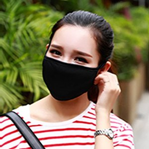 Reusable Anti-Dust Cotton Mouth Face Mask Unisex Man Woman Cycling Wearing Black Fashion Masks Double Dust Mask EEA1893