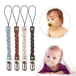 Новые модули мода 1шт кожа + металл детские малыш мальчик девочка пустышка соска кожа соска клип цепи держатель ремень подарки
