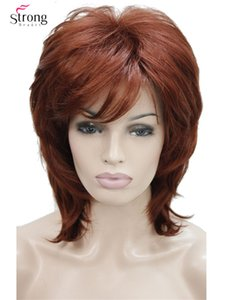 Hair Synthetic Wigs(For Black) StrongBeauty Short Shaggy Layered Copper Red Classic Cap Full Synthetic Wig Women's Wigs COLOUR CHOICES