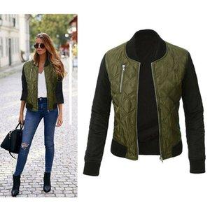 Новый женский длинный рукав толстовка куртка Куртка пальто молния байкер короткие панк укороченные топы верхняя одежда пальто