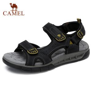 CAMEL Außen Reisen Männer Sandalen Mode Flexible echtes Leder-Schuhe Herren-Sandale weiche leichte Dämpfung Strand