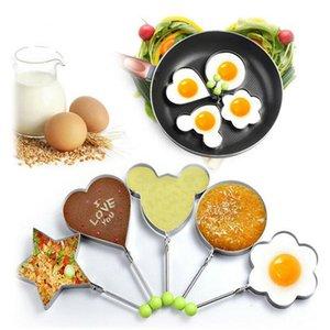 Moule Egg Fried en acier inoxydable Shaper Pancake Moule Cuisine de cuisson Ustensiles de cuisine Oeuf Shaper Anneau moule Pancake
