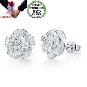 OMHXZJ Wholesale Fashion jewelry The love of romantic and elegant cherry blossoms 925 sterling silver Stud earringsYS26
