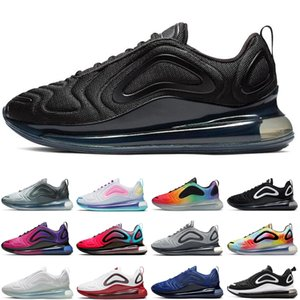 Newest men women running shoes triple black white be true orange sunset outdoor mens womens trainers sports sneakers runners size 36-45