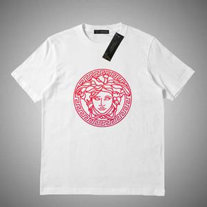 Versace Estate 2019 donne T nuovo modo camice maniche Cotone Lettera bicchierino di stampa stile di Hip Hop T-shirt Donne Tees S-2XL # 46515