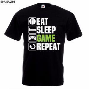 Eat Sleep Game T-Shirt Funny Gamer Gaming Christmas Birthday Gift Top Casual Printed Tee