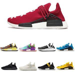 Adidas Shoes 2020 Мужская гонка Новая NMD человека кроссовки с коробкой Pharrell Williams образца Желтый Основной Черный Спорт Женская обувь Кроссовки