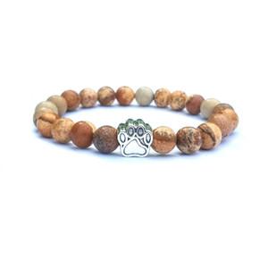 Natural stone beads Bracelet For Women Men dog claw Charm Agate Stone Yoga beaded Bangle Healing balance DIY Jewelry