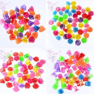 30 pcs Nouveau mode Bébés filles Petits cheveux Claw fleur mignon bonbons couleur mâchoire cheveux clip enfants Hairpin Accessoires cheveux gros