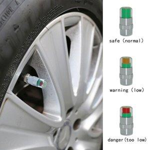 4 قطع السيارات الاطارات الاطارات ضغط الهواء تنبيه مؤشر سيارة صمام الجذعية مراقب الاستشعار قبعات الاطارات 2.2 بار (32PSI) أو 2.4 بار (36PSI)