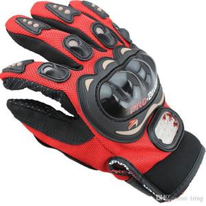 الرياضة في الهواء الطلق كامل الإصبع فارس ركوب قفازات دراجة نارية الدراجات النارية 3D تنفس شبكة نسيج الرجال جلدية قاطرة القفاز
