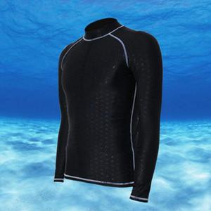 Hommes de plongée Sharkskin Stinger Suit manches longues Rash soleil Garde de bain Surf Shirt Maillots de bain UV UPF50 + Windsurf Baignade Wetsuit