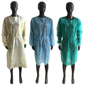 Disposable Protective Clothing 4 Colors Non Woven Isolation Gowns One Time Anti Dust Protection Suits LJJO7992