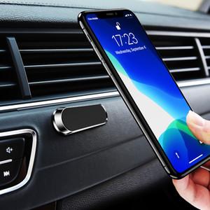 Mini Şerit Şekli Manyetik Araç Telefonu Tutucu iPhone Samsung Xiaomi duvar metal Mıknatıs GPS Araç Montaj Dashboard için Stand