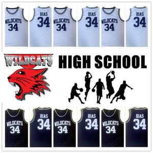 SıCAK Wildcats YÜKSEK OKUL 34 Leonard Bias Dikişli nakış formalar Forması GÖMLEK ucuz spor basketbol satış hız