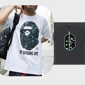 20ss Affen Herren T-Shirt hohe Qualität Flut Frauen T-Shirt Allianz mit dem Label Hip-Hop-Alphabet e3