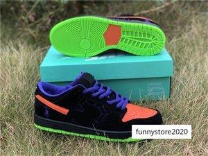 6817 006 Best Authentic Sb Dunk Low Night Of Mischief Running Shoes Men Glow In The Dark Black total Orange-court Purple-volt Bq- Sneakers