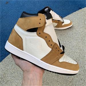 2018 Выпущено Аутентичные 1 High OG Новичок года 1S Мужчины Баскетбол обувь Спортивные кроссовки с оригинальной коробке 555088-700