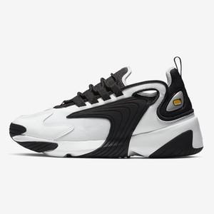 الرجال تكبير Nike Zoom 2K 2K لايف ستايل الأبيض أسود أزرق ZM 2000 أسلوب المدرب مصمم في الهواء الطلق أحذية رياضية M2K أحذية السببية مريح 36-45