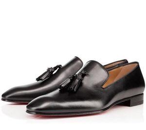 Designer Party Dress Wedding Slip On Loafers Shoes For Man Dandelion Tassel Sneaker Shoes Red Bottom Oxford Shoes Luxury Men's Leisure Flat