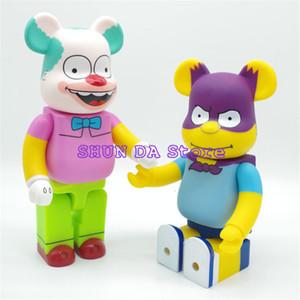 400% Bearbrick Orso Batman Krusty il Clown I Simpson PVC Action Figure modalità Toys 28CM