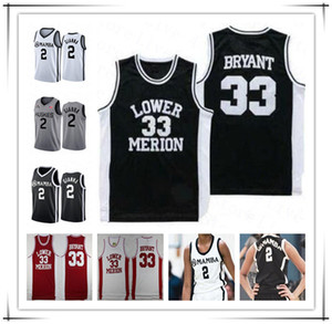 Camisa de la Universidad de Connecticut Huskies Colegio Gianna Maria Onore 2 Gigi NCAA Masculino de Cosido Mamba Bryant 33 Lower Merion High School secundaria Memorial jerseys del baloncesto