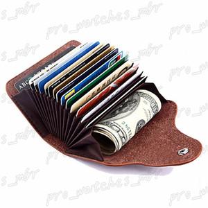 Genuine Leather Unisex Business Card Holder Wallet Bank Credit Card Case ID Holders Bag Men Women Card Wallet H062