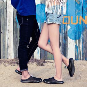 2019 pattini esterni dei pistoni di estate Uomini di gomma sandali della spiaggia traspirante Trampolieri Scarpe Donna Anti Skid doccia Mules Zapatos Mujer