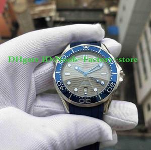 Las fotografías de la fábrica 2019 nuevo de alta calidad de 300 M Watch Co-Axial Planet Ocean 210.32.42.20.06.001 Correa de caucho pulsera de acero para hombre Relojes