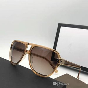 G1062 Moda Masculina Marca Designer Sunglasses Enrole Sunglass Oval armação de fibra de carbono Proteção Lens UV Pernas Estilo Verão Top Quality