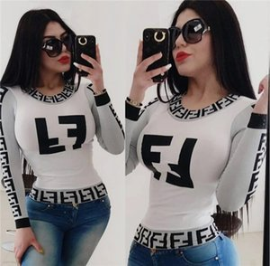 여자의 블라우스 섹시한 T 셔츠 프린트 긴 소매 셔츠 가을 유명한 t 셔츠 패션 셔츠 매우 뜨거운 clubwear 우아한 여성 의류 klw2723 꼭대기에 오른다
