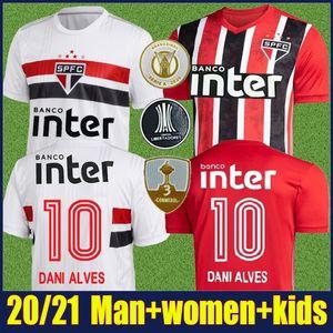 2020 Sao Paulo DANI ALVES formalarını çocuklar PABLO PATO ANTONY futbol forması yetişkin camisa Sao paulo kadına 20/21 Kaleci formasını kiti