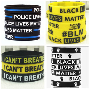 17Styles JE RESPIRE Bracelet en silicone Non Black Power Lives Noir Matière Party Supplies Bague Bracelets Wristband 300pcs