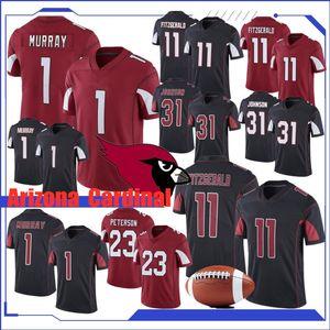 11 Larry Fitzgerald Futbol Jersey Arizona 1 Kyler Murray Kardinal 31 David Johnson 23 Adrian Peterson 100 Formalar En kaliteli