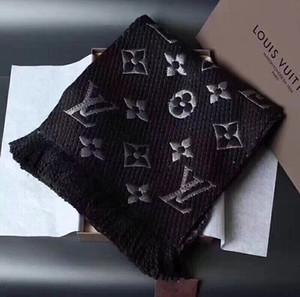 Luxe d'hiver pur coton écharpe pour les femmes Marque Conçu foulard à carreaux chaud Mode Hommes Femmes 180x35cm Écharpes Cachemire imiter