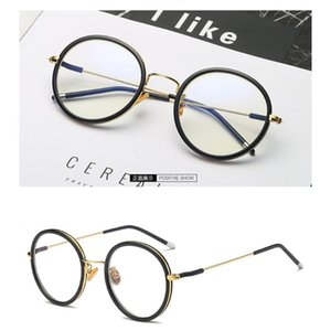 1 Pcs Literature And Art Retro Flat Mirror Round Glasses Frame Craft Mirror Legs Glasses Frame Student Optician fashion