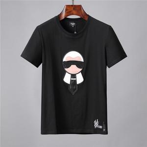 L'impression de haute qualité du monde de l'habillement européen et américain 2019 est parfaite, avec le t-shirt pour homme, étiquette Medusa, taille asiatique sur la tête