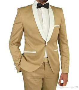 New Style Groom Tuxedos One Button Shawl Lapel Groomsmen Best Man Suit Mens Wedding Suits (Jacket+Pants+Tie) 443