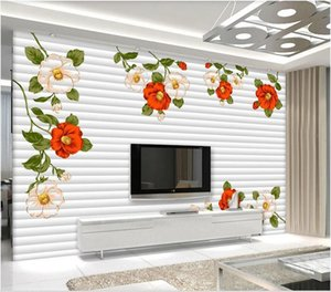 WDBH 3d wallpaper custom photo Hand painted flowers modern minimalist floral background wall Home decor muals wall paper for walls 3 d