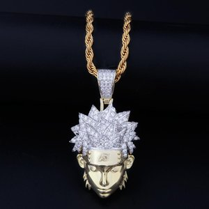 Cartoon Character Pendant Necklace New Mens Hip Hop Anime Naruto Pendant Necklace Fashion 14k Gold Chain Necklace Jewelry