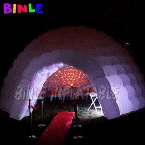 8 m de blanc de l'air extérieur partie conduit tente dôme gonflable espace atelier géodésique discothèque structure événement igloo à vendre