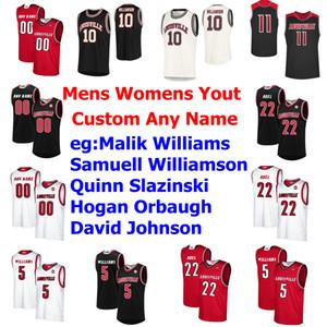 Louisville Escuela de Baloncesto jerseys para hombre Malik Williams Jersey Aidan Igiehon Steven Enoc Dwayne Sutton Ryan McMahon cosido personalizada